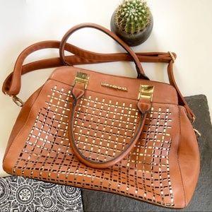 Michael Kors shoulder bag purse gold detailing